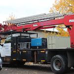 Sign Installation Crane Truck