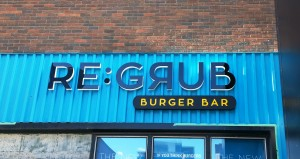 Regrub Burger Bar LED Side-lit Channel Letter Sign by Topmade