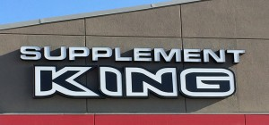 Supplement King LED Sign featuring channel letters