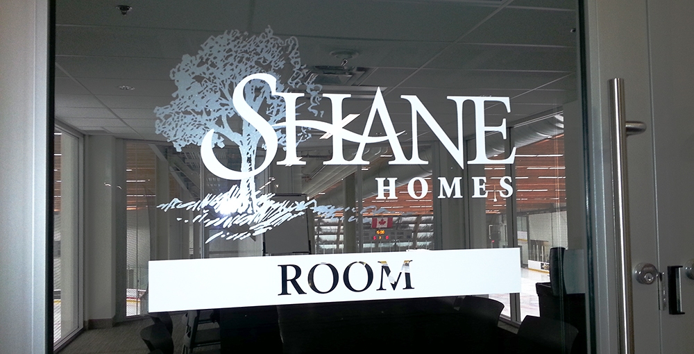 vinyl sign and graphic for a conference room