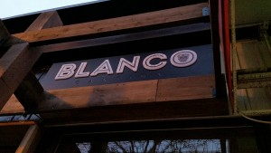 Blanco Cantina LED 3D channel letters sign