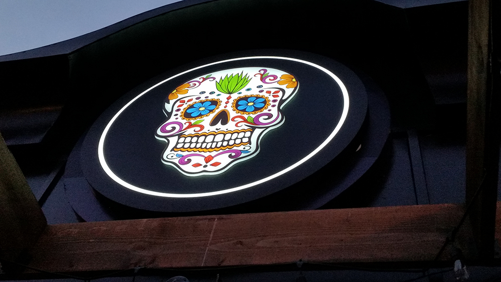 Blanco Cantina restaurant illuminated LED 3D channel letters sign