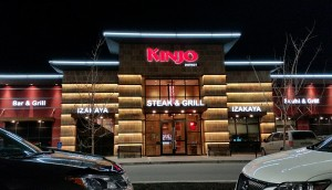 Kinjo LED illuminated 3D channel letters sign